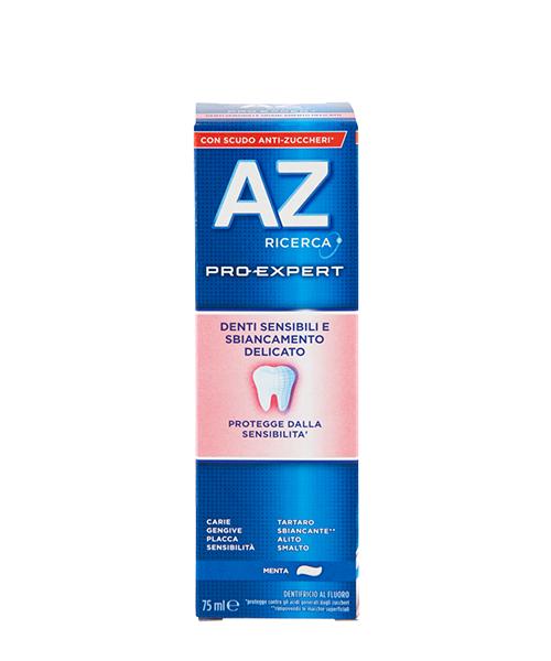 AZ Pro-Expert Denti Sensibili e Sbiancamento Delicato, zubní pasta pro citlivé zuby a šetrné bělení 75 ml.