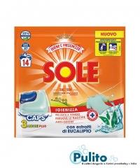 Sole Igiene e Freschezza, dezinfekční kapsle na praní 14 ks.