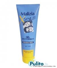 Malizia X Style Gel Effetto Bagnato, gel na vlasy se silným fixačním účinkem, mokrý vzhled 250 ml.