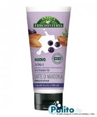 Antica Erboristeria 3-In-1 Latte di Mandorla/Bacche di Acai, přírodní balzám/maska/kůra na suché, poškozené a unavené vlasy 200 ml.