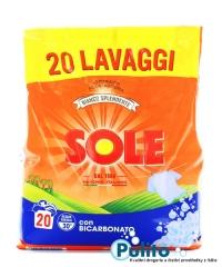 Sole Bianco Splendente con Bicarbonato prací prášek 1,3 kg., 20 PD