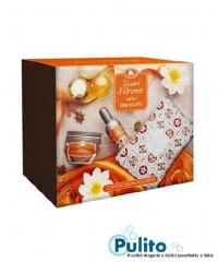 Tesori d´Oriente dárková kosmetická sada Fior di Loto tělový krém 300 ml. + EDT 100 ml. + kosmetická taštička