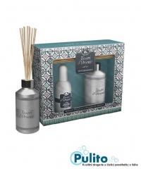 Tesori d´Oriente dárková sada Muschio Bianco bytový aroma difuzér 200 ml. + EDT 100 ml.