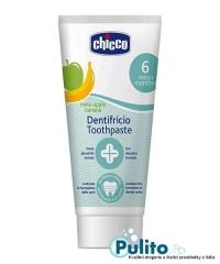 Chicco zubní pasta s fluorem příchuť jablko/banán od 6-24 měsíců 50 ml.