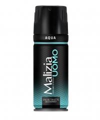 Malizia Deo Spray Uomo Aqua, pánský tělový deodorant 150 ml.
