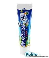 Saponello zubní pasta s fluorem příchuť pomeranč/sladká máta od 6 let 75 ml.