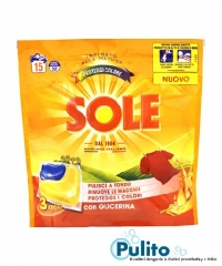 Sole Proteggi Colore, gelové kapsle na barevné prádlo 15 ks.