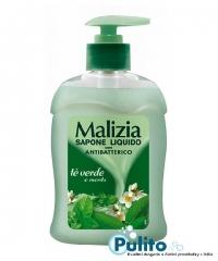 Malizia Antibatterico Menta e Té verde, tekuté antibakteriální mýdlo 300 ml.