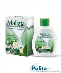 Malizia Intimo Rinfrescante Té Verde e Gelsomino, svěží antibakteriální intimní mýdlo 200 ml.