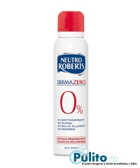 Derma Zero 0% Neutro Roberts, tělový deodorant bez hliníkových solí 150 ml.