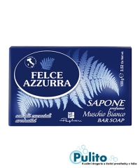 Felce Azzurra Muschio Bianco toaletní mýdlo 100 g.