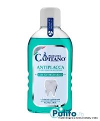 Pasta del Capitano Antiplacca, antibakteriální ústní voda proti zubnímu plaku 400 ml.