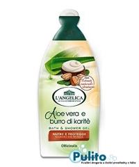 L´Angelica Officinalis Aloe Vera e burro di Karité, výživný sprchový gel/koupelová pěna 500 ml.