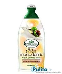 L´Angelica Officinalis Olio di Macadamia, sprchový gel/koupelová pěna s makadamovým olejem 500 ml.