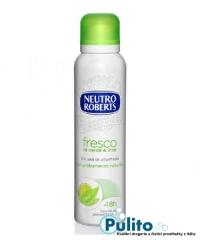 Neutro Roberts Deo Spray Fresco Té verde e Lime, tělový deodorant ve spreji se zeleným čajem a limetkou bez hliníkových solí, 150 ml.