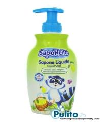 SapoNello Delicato Pera tekuté dětské mýdlo 300 ml.