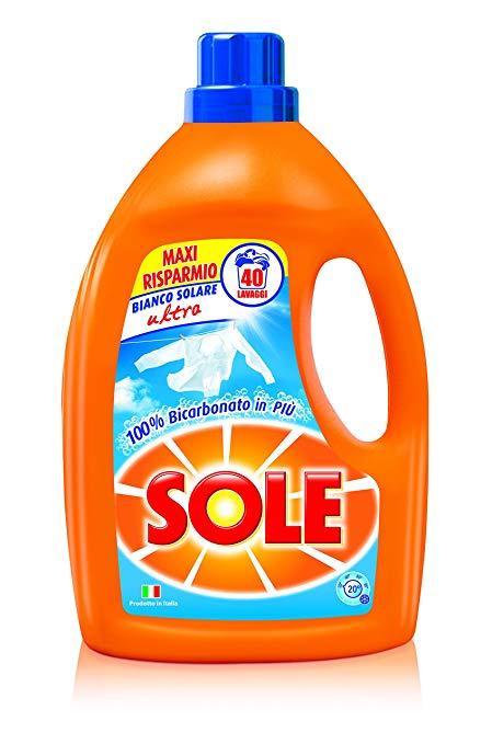 Sole Bianco Solare Ultra, prací gel s bikarbonátem 2 l., 40 pracích dávek
