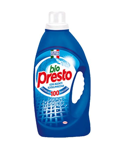 Bio Presto Agenti Scioglimacchia, prací gel na bílé a světlé prádlo 1,495 l., 23 pracích dávek