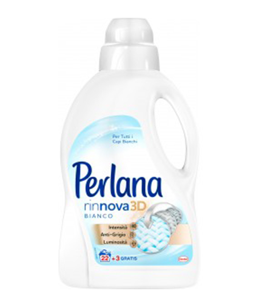 Perlana Rinnova Bianco 3D, prací gel 1,5 l.