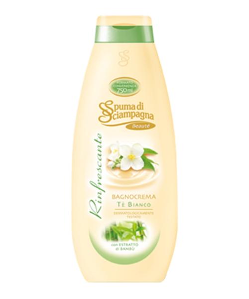 Spuma di Sciampagna Beauté con Té Bianco, koupelový krém 750 ml.