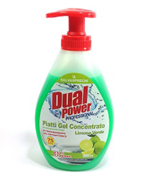 Dual Power Professional Piatti gel Limone Verde, extra hustý profesionální jar koncentrát, 300 ml.