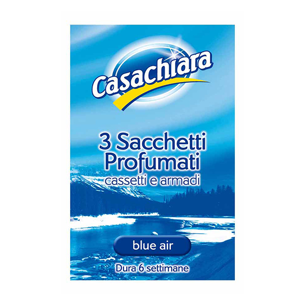 Casachiara Sacchetti Profumati Blu Air, parfémované vůně do skříní a zásuvek, 3 ks.