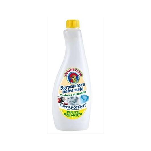 Chante Clair Sgrassatore Limone, univerzální čistící prostředek a odmašťovač 625 ml. (náhradní náplň)