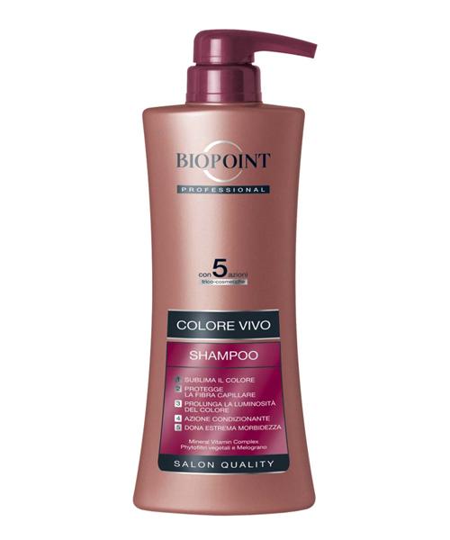 Biopoint Professional Shampoo Colore Vivo, šampón na barvené a melírované vlasy 400 ml.