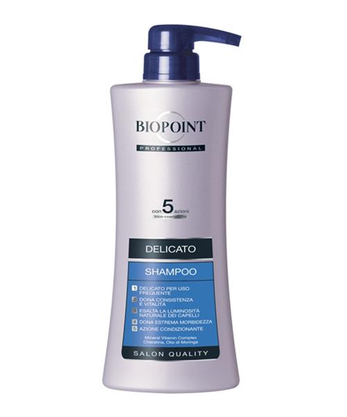 Biopoint Professional Shampoo Delicato, profesionální šampón na jemné vlasy 400 ml.
