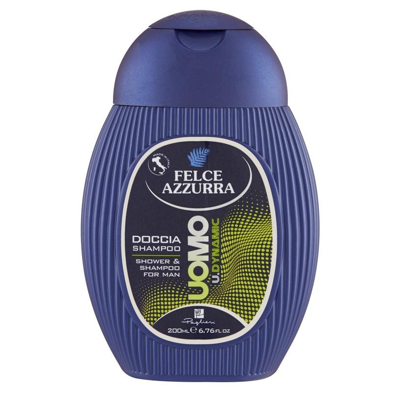 Felce Azzurra Doccia Shampoo Uomo U.Dynamic, pánský sprchový šampón 200 ml.