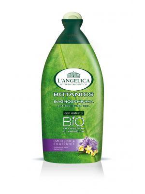 L´Angelica Botanics Bath Shower Gel BIO Lavanda e Vaniglia, zklidňující a relaxační BIO sprchová pěna s extrakty z levandule a vanilky 500 ml.