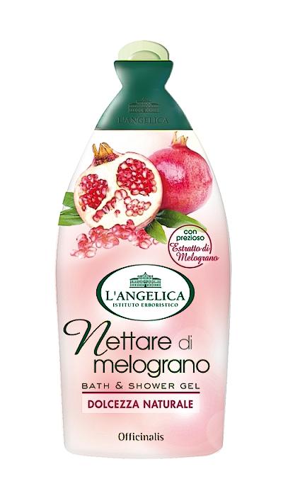 L´Angelica Officinalis Addolcente con Nettare di Melograno, změkčující sprchová pěna s nektarem z granátového jablka 500 ml.