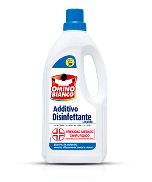 Omino Bianco Additivo Disinfettante, přídavný antibakteriální gel 900 ml.