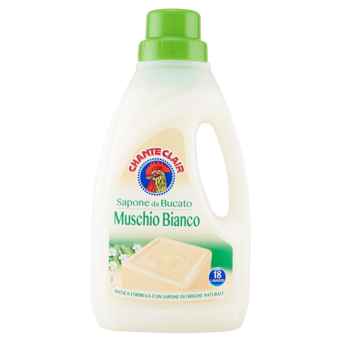 Chante Clair Muschio Bianco, prací tekuté mýdlo bílý mošus 1 l., 18 pracích dávek