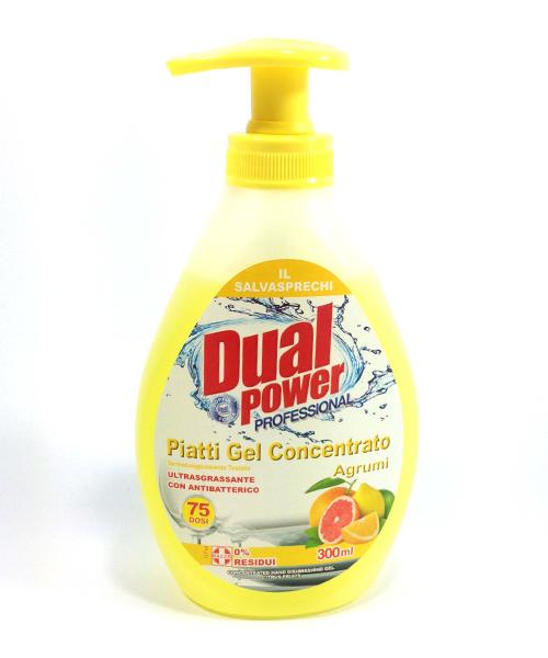 Dual Power Proffessional Piatti Agrumi, profesionální jar na nádobí koncentrát 300 ml.