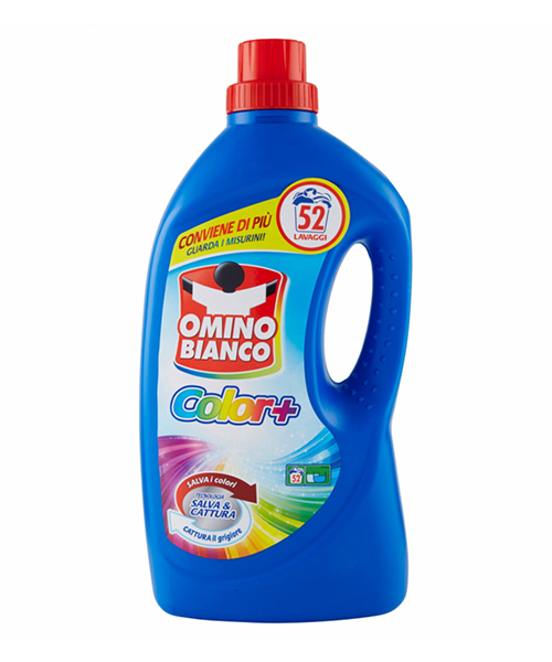 Omino Bianco Color+, prací gel na barevné prádlo 2,6 l., 52 pracích dávek