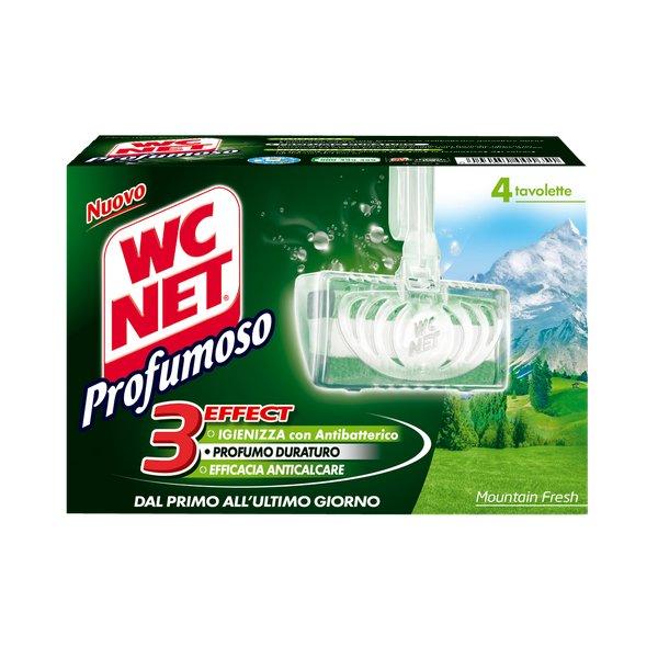 WC NET Profumoso 3 efect Mountain Fresh, WC blok 4 ks./bal