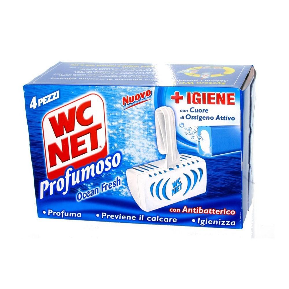 WC NET Profumoso 3 efect Ocean Fresh, WC blok 4 ks./bal