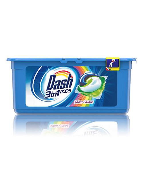 Dash 3v1 PODS gelové kapsle Salva Colore na barevné prádlo 30 ks.