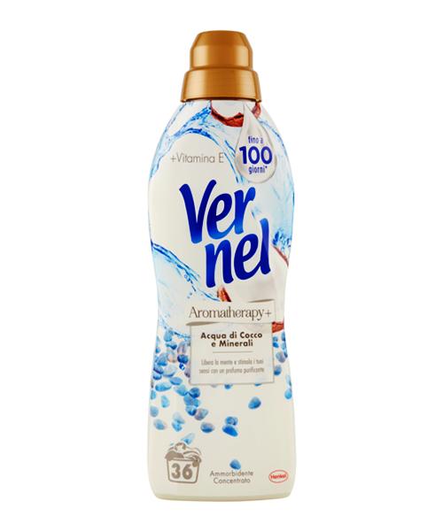 Vernel Aromatherapy + Aqua di Cocco e Minerali, aviváž koncentrát s kokosovou vodou a minerály 900 ml.