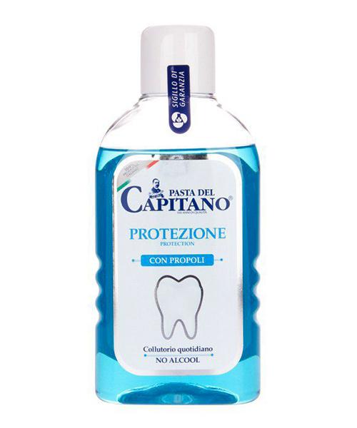 Pasta del Capitano Protezione con Propoli, ústní voda proti zubnímu plaku 400 ml.