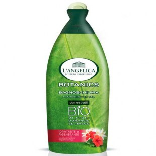 L´Angelica Botanics Bath Shower Gel BIO Fiori d´Arancio ed Ibisco, hydratační a regenerační BIO sprchová pěna s extrakty z pomerančových květů a ibišku 500 ml.