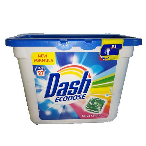 Dash Ecodose gelové kapsle Salva Colore na barevné prádlo 27 ks.