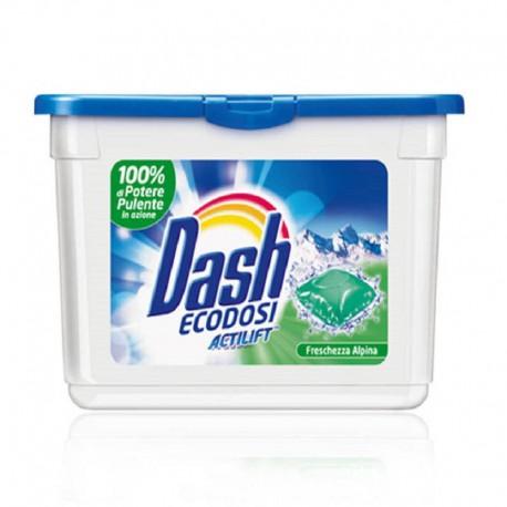 Dash Ecodose  Freschezza Alpina, gelové kapsle na bílé a světlé prádlo 21 ks.