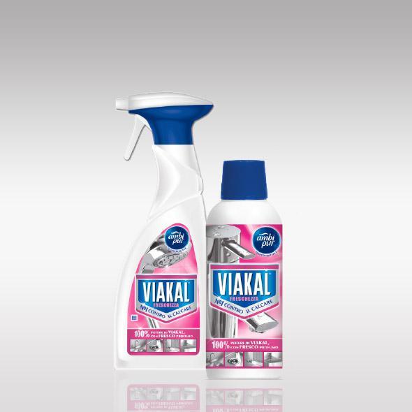 Viakal Fresco Profumo, parfémovaný gel ve spreji na rez a vodní kámen 750 ml.