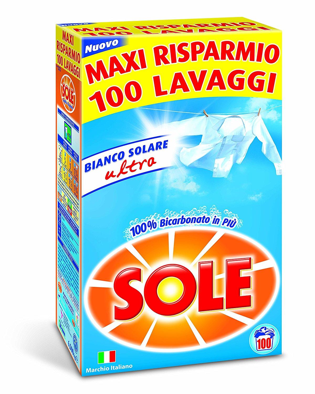 Sole Bianco Solare Ultra, prací prášek 6,5 kg., 100 pracích dávek