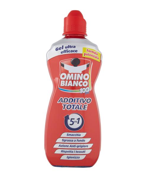 Omino Bianco Additivo Totale 5in1, odstraňovač skvrn a odmašťovač 900 ml.