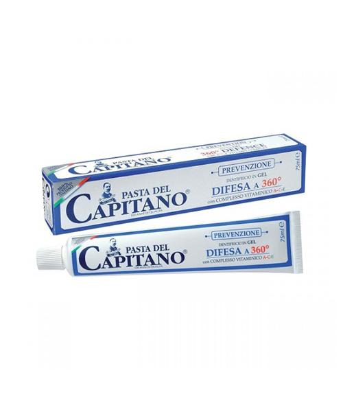 Pasta del Capitano Difesa a 360°, ochranná gelová zubní pasta s vitamin komplexem A-C-E 75 ml.
