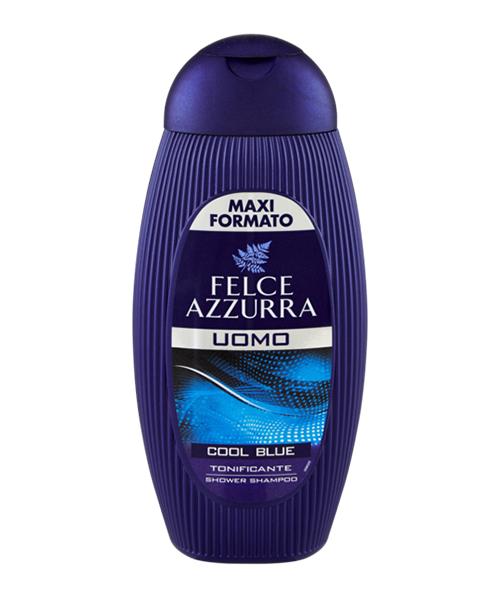 Felce Azzurra Uomo Cool Blue Doccia Shampoo, pánský sprchový šampón 400 ml.