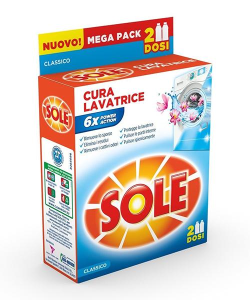 Sole Cura Lavatrice, tekutý čistič pračky 2x250 ml.